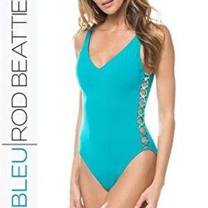Bleu Rod Beattie Side Knot One Piece Swimsuit NWT
